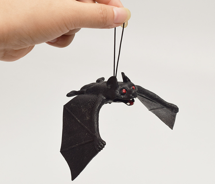 Funny Soft Rubber Bats Scary Halloween Toys Gag Gifts Funny Gadgets Squeeze Toys