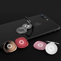 Baseus Metal Finger Ring Holder For iPhone XS 8 Samsung Phone Ring Mobile Phone Holder Stand For Magnetic Car Phone Holder Stand 5