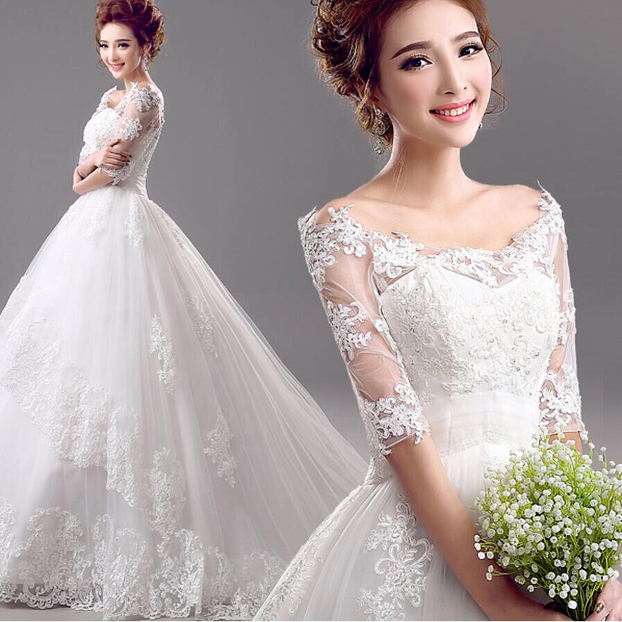 Popular Off The Shoulder Wedding Dress No Train-Buy Cheap Off The ...