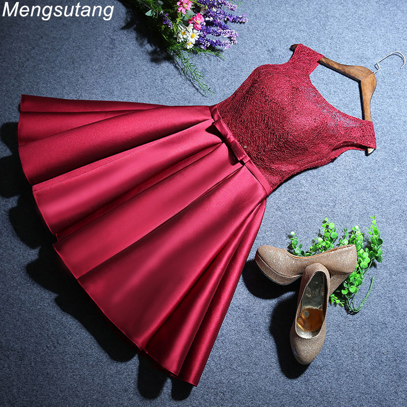 Robe de soiree Wine Red lace Sleeveless lace up   evening     dresses   vestido de festa prom   dresses   party   dresses   gowns 3 colors