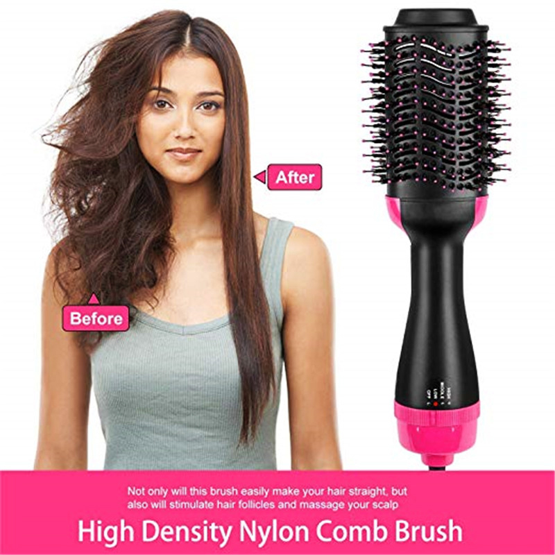 2 In 1 Multifunctional Hair Dryer & Volumizer Rotating Hairdryer  Roller Rotate Styler Comb Styling Straightening Curling Iron