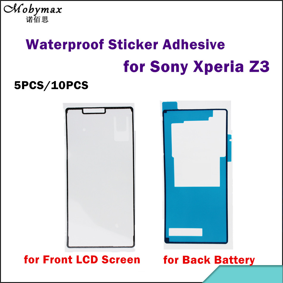 5PCS/10PCS Waterproof Adhesive For Sony Xperia Z3 L55T L55U D6653 D6633 LCD Frame+Back Battery Cover Sticker Adhesive Glue Tape