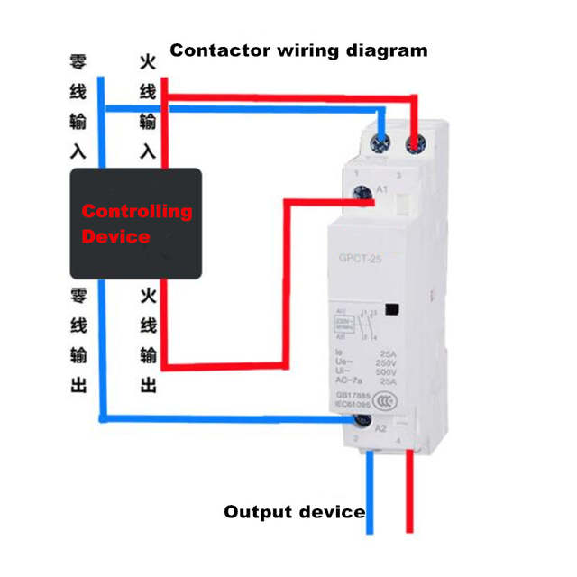 single phase contactor wiring diagram small ac contactor gpct 25a gpct 20a gpct 16a 1p 2p 220v single  small ac contactor gpct 25a gpct 20a