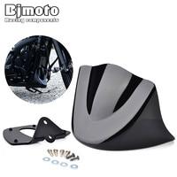 Bjmoto Motocross Motorcycle Motorbike Mudguard Gloss Black Lower Front Chin Spoiler Air Dam Fairing Cover For