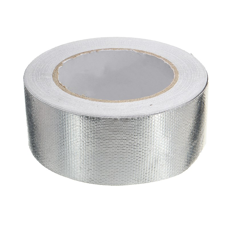 MTGATHER 48mmx25m Aluminum Reinforced Heat Shield Tape Adhesive Backed Resistant 450 Degree Top Quality