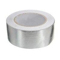 Mtgather 48 мм x 25 м Алюминий усиленная тепло Shield лента самоклеящаяся устойчивы 450 градусов Одежда высшего качества