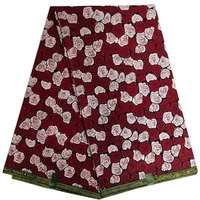 red flower Ankara African hollandai wax Print Fabric 100% cotton hitarget wax tissu africain sewing fabric for women dresses