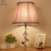 TUDA Free Shipping Pink Cloth Shade Table Lamp Romantic Fashionable Table Lamp Modern Simple Desk Lamp Home Decor E27
