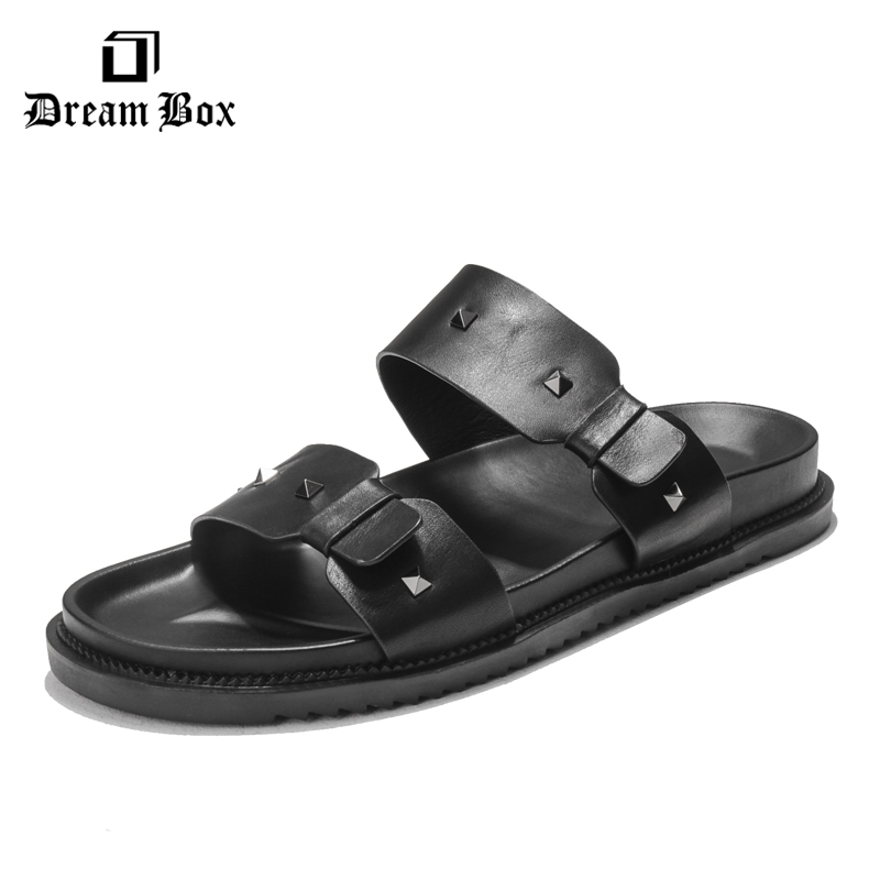 dreambox2017 Summer antiskid leisure sandals breathable fashion rivet thick bottom beach shoes men's cold slippers dreambox summer leisure trends in europe and america mesh breathable shoes set foot thick soled shoes