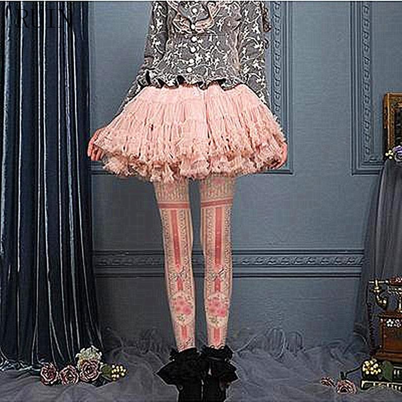 Ženske Hlačne nogavice RUIN Cvetje, natisnjene hlačne - Spodnje perilo