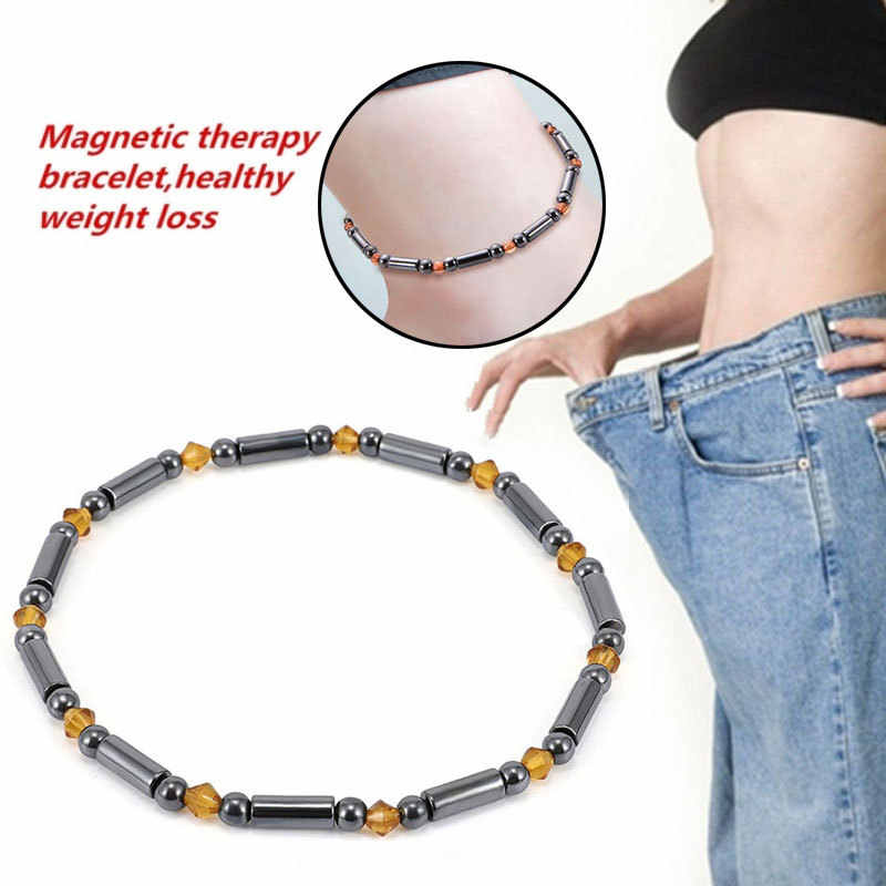 Women Therapy Bracelet Weight Loss Anklet Health Care Magnetic Foot Jewelry Gift