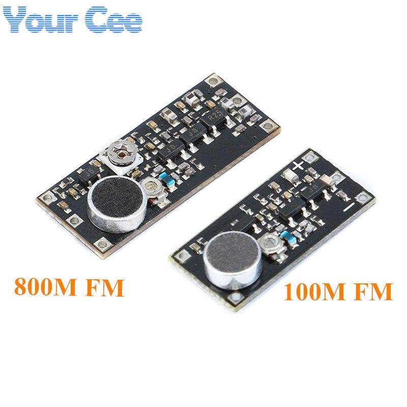 Fm-передатчик, беспроводная система наблюдения с микрофоном, Модуль платы частоты для Arduino, регулируемый конденсатор постоянного тока 100 м 800 ...