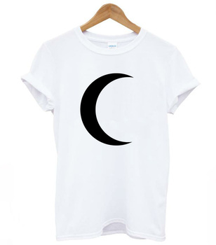 crescent moon Print Women tshirt Cotton Casual Funny t shirt For Lady Top Tee Hipster Tumblr Drop Ship Z-812 1