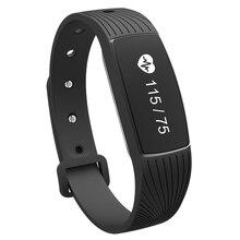 Новинка 2017 года Bluetooth 4.0 Спорт умный Браслет монитор сердечного ритма фитнес-трекер с 0.69 дюймов OLED Экран