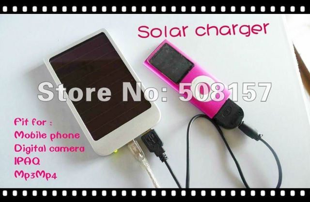 Free shipping 2600mah Solar Charger Solar Panel Battery Charger  adapter for Mobilephone/IPAQ/Digital camera With retail packing