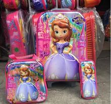 Neue 16 zoll gepäck mit rädern Sophia reise-koffer set (mittagessen box + stift boxen + trolley gepäck) mode gepäck