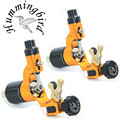 Pro 2Pcs/Lot Gold Hummingbird V2 Original Swiss Motor Rotary Tattoo Machine Gun kit liner shader for cord