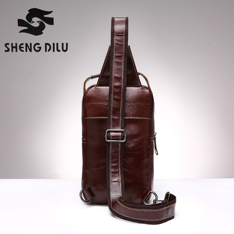6bce967dfc First Layer MEN Genuine leather crossbody bag for Men designer messenger  bags men s chest pack men s chest bags famous brand-in Crossbody Bags from  Luggage ...