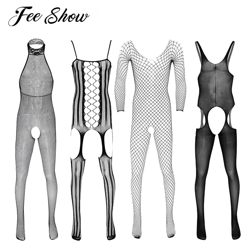 Hot Selling Men Sex Lingerie Black Sexy Bodystocking Open Crotch Body Suit Sexy Costumes Intimates Mens Hosiery Erotic Underwear