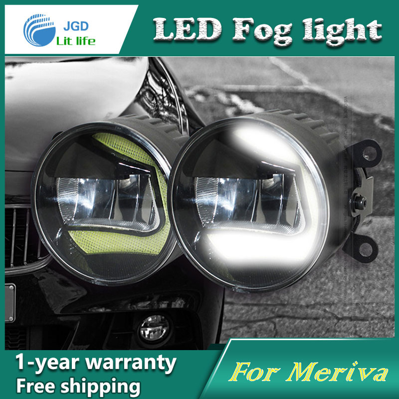 Super White LED Daytime Running Lights case For Opel Meriva 2006-2013 Drl Light Bar Parking Car Fog Lights 12V DC Head Lamp for opel astra h gtc 2005 15 h11 wiring harness sockets wire connector switch 2 fog lights drl front bumper 5d lens led lamp
