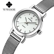 WWOOR Women's Watch Ultra Thin Stainless Steel