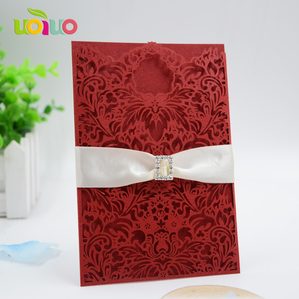 Aliexpress.com : Buy Blush Pink lace pocket wedding invitation card ...