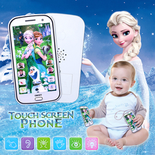 New Children Mobile Phone Toys Snow Queen Princess Elsa Anna with Sound Smart Electronic Cellphone Early Education Infant