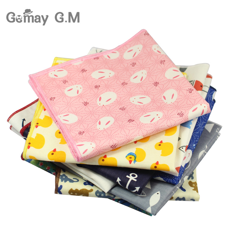 Fashion Men Cotton Printed Handkerchief For Wedding Tuxedo Floral Pocket Sqaure Hanky For Mens Suits Chest Towel