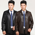 Plus Size 3XL Leather Jacket Mens Clothing Sheepskin Autumn Casual business Leather Coat Male Turn-Down Collar Outerwear