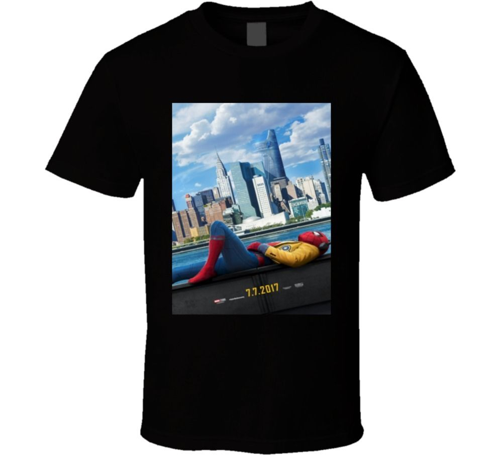 Spiderman Homecoming Superhero Comic Book Movie T Shirt