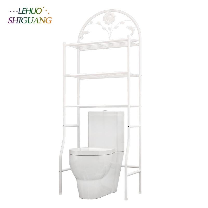 الحمام المرحاض الرف رفوف تخزين الرف الحديد الجمعية يمكن إزالتها تتحرك المرحاض الرف الأثاث-في حوامل ورفوف التخزين من المنزل والحديقة على  مجموعة 1