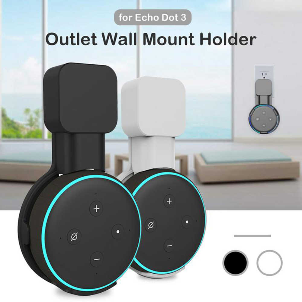 1/2 pièces prise support mural support de suspension ForEcho Dot 3rd Gen Mini Assistant vocal support domotique intelligente