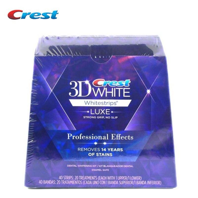 3D Bianco Whitestrips Denti Sbiancamento Dei Denti Strisce Luxe Effetti Professionali Dentale Igiene Orale 20 sacchetti 40 strisce originale