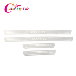 Image 5 - Color My Life 4pcs/lot Car Door Sill Scuff Plate Fit for VOLKSWAGEN VW POLO 2011   2018 Stainless Steel Welcome Pedals Cover