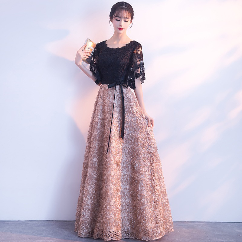 Robe De Soiree Lace   Evening     Dresses   for Celebrity 2019 Arabic Dubai Long Prom   Dress   Half Sleeve Aibye Formal Party Gowns kaftans