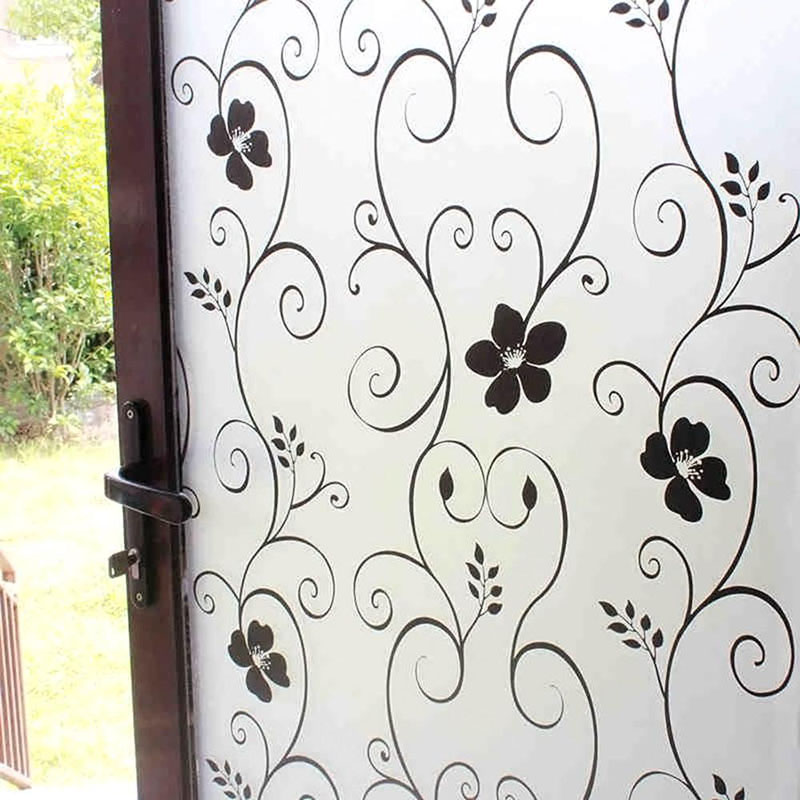 200x60CM Bathroom Print Wall Sticker Glass Walls Window Door PVC Wall Decals For Living Room Bedroom Home Decor Decal Art