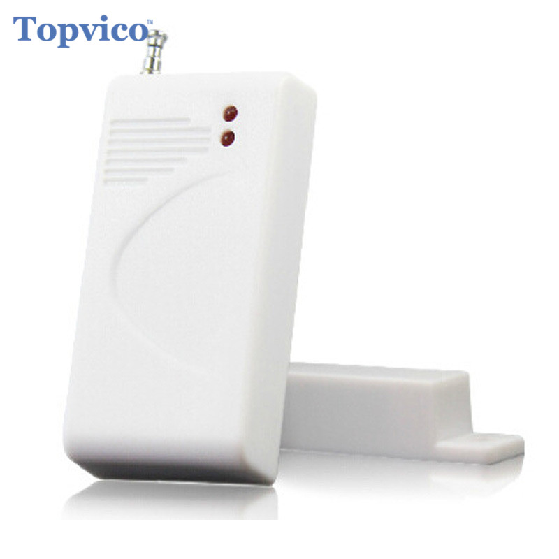 Topvico RF 433mhz Wireless Magnetic Door Sensor Detector Anti-Theft Alarm Systems Security Home for Alarm IP Camera Alarm Host