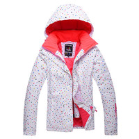 Free Delivery 2016 The New Outdoor Warm Breathable Winter Women Waterproof Windproof Ski Clothing