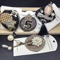 100% de Imagem Real 2017 Nova Moda Casamento Broches Pin para o Terno Charme Antigo Pingente Artesanal cc Pin Broche Antigo Tecido