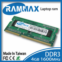 DDR3 SO DIMM1600Mhz PC3 12800 204 Pin Laptop Rams Memory 1x4GB Ddr3 CL11 High Compatible With