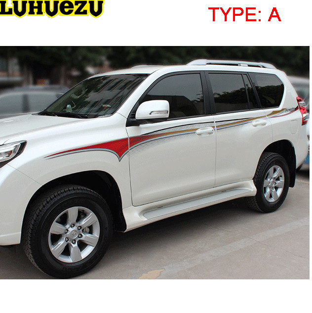Luhuezu 3M Car Body Sticker For Toyota Land Cruiser Prado FJ150 2010-2017 Accessories car wind car cargo liner trunk mat for toyota land cruiser prado 150 prado 120 rav4 corolla avalon camry prius car accessories