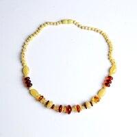 Янтарный ожерелье пчелиный воск Подвеска со шнурком свитер цепи для мужчин и женщин Радуга куриное масло хау удлинить бусины крови Perkin