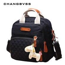 Новая модная сумка для детских подгузников, сумка для подгузников для мам, многоярусные сумки для колясок, Женская тканевая сумка для смены подгузников