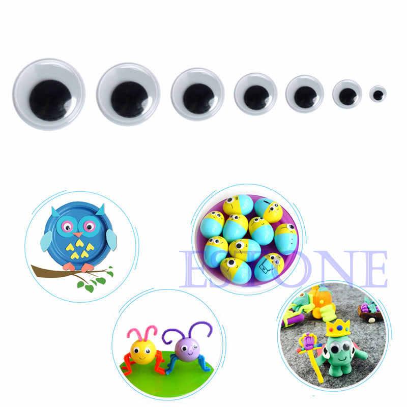 520x6-20 мм обучающий аксессуар Wiggly Wobbly Googly Eyes самоклеящиеся предметы для скрапбукинга смешанные