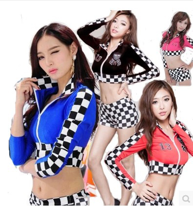 Sexy Cheerleader Dress Costume group support female Cheerleader Dress cosply costume