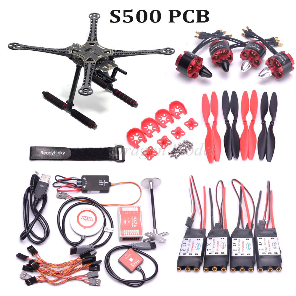 S500 X500 F450 PCB Quadcopter Frame Kit Original Naza M Lite Flight Controller Board GPS Combo