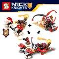 Caliente nexus nick caballeros 2en1 caos chariot building block bromista bestia maestro jestro compatible legoeinglys. juguetes de los ladrillos