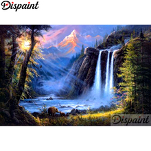 Dispaint Full Square/Round Drill 5D DIY Diamond Painting Waterfall tree Embroidery Cross Stitch 3D Home Decor A10518 цена