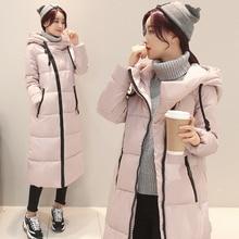 New winter coat long thickening coats woman's slender body warm jacket