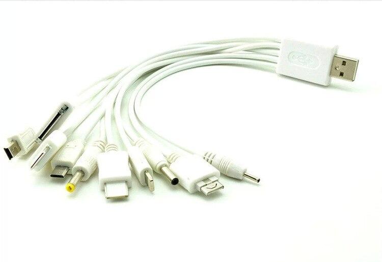 10 в 1 универсальный USB кабели для мобильных телефонов с несколькими Кабель зарядного устройства для IPhone IPad Samsung звук батареи 1 до 10 кабель Обо…
